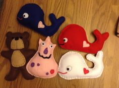 Felt whale, teddy bear and monster  Pleas like my FB page  Little Blessings Gifts