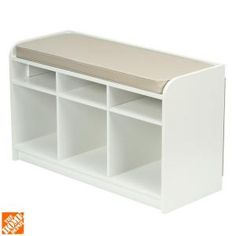 Martha Stewart Living, 35 in. x 21 in. White Storage Bench with Seat, 4903 at The Home Depot - Mobile