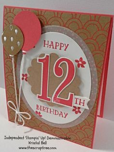 Stampin' Up!, Number of Years Stamp Set. Balloon Bouquet punch and Shine On DSP, Birthday Birthday Cards For Boys, Bday Cards, Birthday Numbers, Stamping Up Cards, Kids Cards, Cute Cards, Creative Cards, Homemade Cards, Cardmaking
