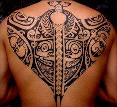 full back stingray polynesian tattoo - Polynesian tattoos