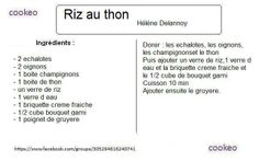 Riz Thon, Pates De Riz, Pâtes Riz, Cookeo Moulinex, Plat Cookeo,