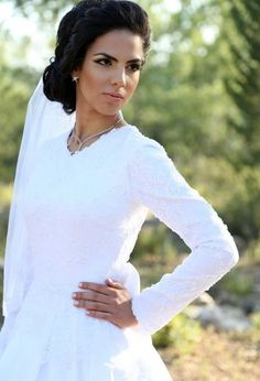 Modest Wedding Dresses with Sleeves Vintage Inspired Wedding Dresses, Custom Wedding Dress, Modest Wedding Dresses, Elegant Wedding Dress, Bridal Gowns, Wedding Gowns, Hijab Bride, Bridal Salon, Wedding Inspiration