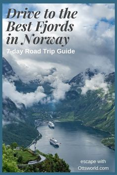 """Drive to the best fjords on this 7 day Norway road trip. What to do, where to stay, & where to eat. Plus I""""ll show you the most adventurous road to drive!"""