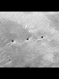 While investigating the Red Planet with the help of Google Mars Map, channel curator Jose Luis discovered a row of enormous towers on the martian surface. Each stands almost a mile tall, the tallest building on Earth is only half this size. The specific image showing the towers was captured in 1999 so a lot could have changed in the nearly two decades that have since passed. The martian towers are located in a region known as Terra Meridiani.