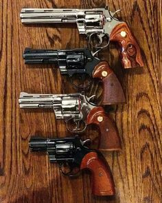 Colt Python Wheel Gun Line Up - © - Weapons Lover Weapons Guns, Airsoft Guns, Guns And Ammo, Rifles, 357 Magnum, Smith And Wesson Revolvers, Colt Python, Weapon Of Mass Destruction, Fire Powers