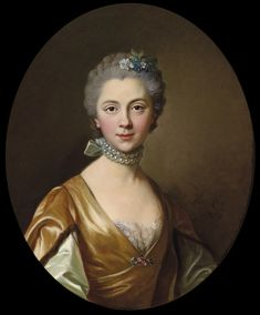 Portrait of a young lady, Louis Michel van Loo, 1759