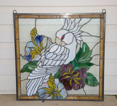Cockatoo stained glass