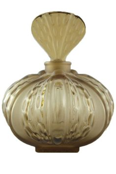 Lalique Olive Green Crystal Mirabel Perfume Bottle