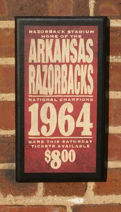 for the man cave/game room/basement done in vintage razorback!