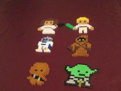 Star Wars Perler Art Magnets Wall Decor or by HouseOfGeekiness, $2.00