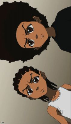 Boondocks - fave adult cartoon - both brothers are voiced by Regina King - neatly representing both halves :D