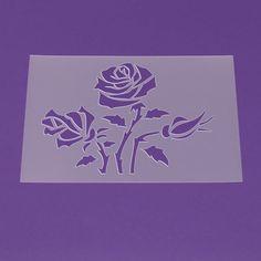 Schablone A3 Blume Rose Ranke Blätter - LF71 von Lunatik-Style via dawanda.com