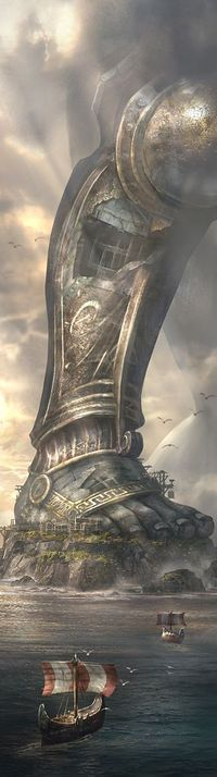 That is a serious problem - God of War Ascension concept art by Cliff Childs.