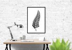 New Zealand Fern, Ponga, Maori, Tattoo Footprint Tattoo, Island Tattoo, Fern Tattoo, Identity, New Zealand Tattoo, Wall Art Prints, Canvas Prints, Silver Fern, Tree Fern