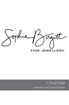 Handwritten Logo for SophieBirgitt Fine Jewellery, Hong Kong