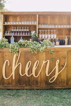 Wedding reception bar idea; Featured photographer: Brandon Kidd Photography