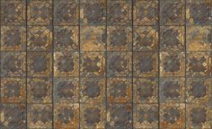 Pattern: TIN-5508 | Name: Brooklyn Tins - Photo Realistic Aged Wall Paper | Category: Brooklyn Tins -  Aged Tin Walls | DesignerWallcoverings.com  Specialty Wallpaper & Designer Wallcoverings for Home and Office.