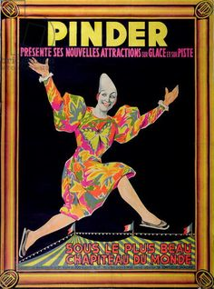 Poster advertising the 'Pinder Circus', 1950s (colour litho), French School, (20th century) / Musee Nat. des Arts et Traditions Populaires, Paris, France / Archives Charmet / Bridgeman Images