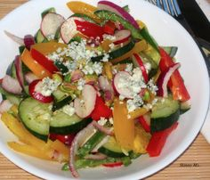 Rainbow Salad with Honey-Lemon Dressing -- 6 Superfoods in one salad