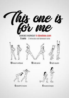 The This One Is For Me is a darebee workout intended to help you get back into fitness. Darbee Workout, Neila Rey Workout, All Body Workout, Fitness Workout For Women, Boxing Workout, Hiit, Cardio, Easy Workouts, At Home Workouts