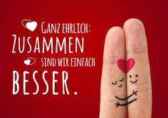 Zusammen einfach besser | Liebe | Echte Postkarten online versenden…
