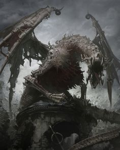 Image from fantasy and syfy..with some cats..NSFW : Undead dragon - Dracolich.