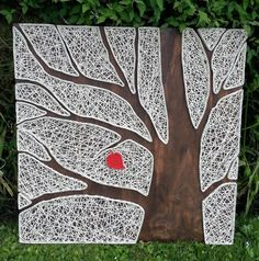 This tree with red leaf is my favorite piece of reverse string art. Provides a rustic accent for any room in your home. All my items are handmade and hand painted by me. Dimensions: 60 cm x 60 cm (23.5 x 23.5) Comes with metal saw tooth hanger attached for easy and convenient hanging. Didnt get exactly what youre looking for? Id love to create a custom listing with you. Send me a message so I can set one up for you