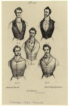1834   Men Wearing Vests, France.      digitalgallery.nypl.org                        suzilove.com