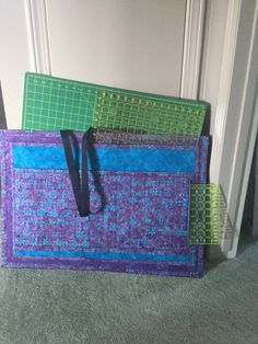 Tote Bag I made for taking your cutting mats to Quilting Classes.