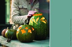 Use squash to carve designs