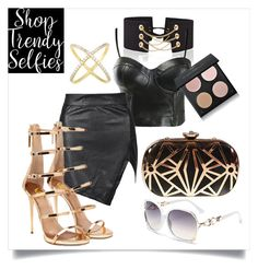 """""""Clubing"""" by shoptrendyselfies ❤ liked on Polyvore featuring gold, black, urban, club and danceclub"""