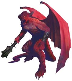 Devil, Pit Fiend (from the fifth edition D&D Monster Manual). Art by Michael Berube.
