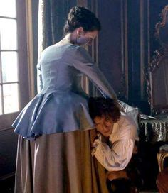 Ep 206 Claire comforts Jamie after their experiment making fake smallpox.
