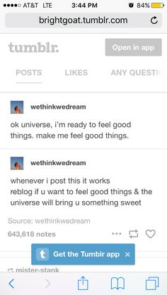 Idk if this counts as reblogging but I could really use good news right about now