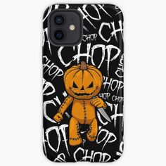 """""""Pumpkin Serial Killer Knife Chop Halloween"""" iPhone Case & Cover by GrandeDuc   Redbubble"""