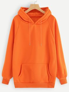 To find out about the Neon Orange Raglan Sleeve Kangaroo Pocket Hoodie at SHEIN, part of our latest Sweatshirts ready to shop online today! Trendy Hoodies, Hoodies For Sale, Plain Hoodies, Hoodie Outfit, Hoodie Sweatshirts, Printed Sweatshirts, Ropa Color Neon, Neon Colors, Vetement Fashion