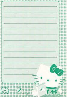 Atelier Gigi Arteira: Papel de Carta da Hello Kitty...mais