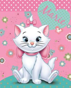 Disney Aristocats Marie Cat Flowers Fleece Blanket By BestTrend®: Amazon.co.uk: Kitchen & Home