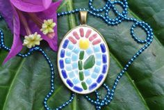 The Miss Independent Pendant by MosaicJewelrybyCrys on Etsy, $25.00