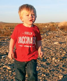 Yes yes yes. This is amazing!!   Funny Fully Vaccinated - You're Welcome Toddler T-Shirt