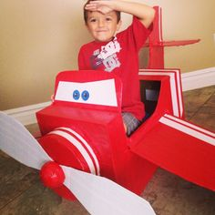 Cardboard Airplane, Airplane Crafts, Airplane Party, Second Birthday Ideas, Third Birthday, Birthday Party Themes, Boy Birthday, Disney Planes Party, Planes Birthday