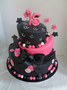 Pink and black #quince cake