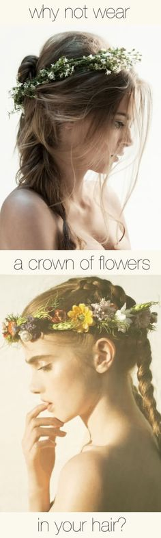 Trendy wedding hairstyles with veil natural flower crowns 34 ideas - beautiful hair styles for wedding Wedding Hairstyles With Crown, Boho Hairstyles, Pretty Hairstyles, Flower Hairstyles, Style Hairstyle, Princess Flower, Princess Wedding, Flowers In Hair, Wedding Flowers