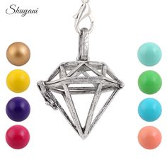 Find More Pendant Necklaces Information about 10pcs/lot Hollow Cage Vintage Triangle Pendants Aromatherapy Mermaid Pregnancy Chime Ball Necklace Locket For DIY Jewelry,High Quality locket ring,China locket jewelry Suppliers, Cheap locket charm necklace from shuyani Official Store on Aliexpress.com