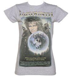 Ladies Vintage #Labyrinth Movie Poster T-Shirt xoxo