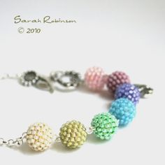Beaded bead necklace from etsy seller SarahRobinL, $39