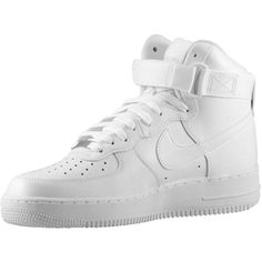 Nike Air Force 1 High - Men's - Basketball - Shoes - Black/Black/Black ($100) ❤ liked on Polyvore featuring men's fashion, men's shoes, mens black shoes, nike mens shoes and mens shoes