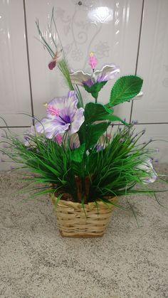 Neste tutorial você ira aprender de um jeito rápido e fácil de fazer a flor HIBISCO CHINÊS de eva e também uma ótima maneira  de você obter uma renda EXTRA