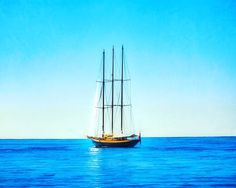 """""""Tall Ship Big Ocean"""": Cannes France #fujifilmx_us @fujifilmx_us #cannesisyours   BLUE continues! Blue phrase of the day: """"Out of the blue"""". 'Cause that's how miracles appear.   Gazing across the water at on a practically perfect South of France day is like standing in a novel or a movie or the best note of your favorite song. A little Ernest Hemingway with a dash of Edith Piaf. Y'know..."""