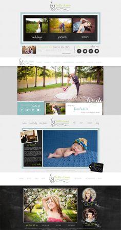 Holly Dawn Photography custom Showit website by Earl & Layne Splash Page, Wedding Site, Portrait Site, Seniors Site www.earlandlayne.com www.hollydawnphotography.com